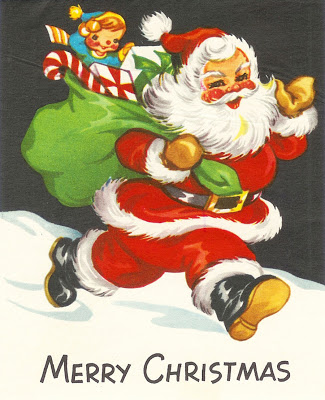 Image result for 1962 Christmas card with Santa